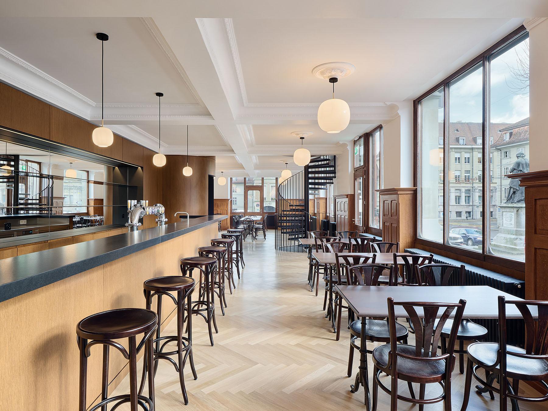 Salle à manger; rez-de-chaussée; Arcades; Fribourg
