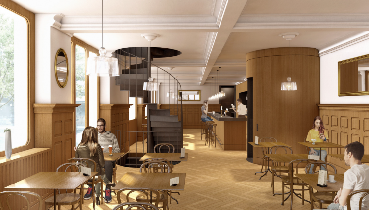 Transformation du Café des Arcades (illustration) - Architecte: Studio Montagnini Fusaro