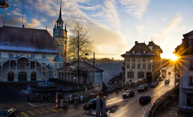 Sunset in Fribourg  © Zen Khye