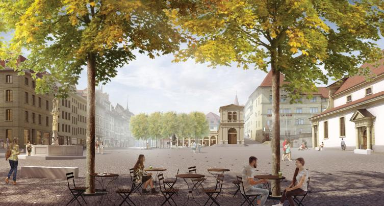 Place Notre-Dame (illustration) - Architecte: Studio Montagnini Fusaro