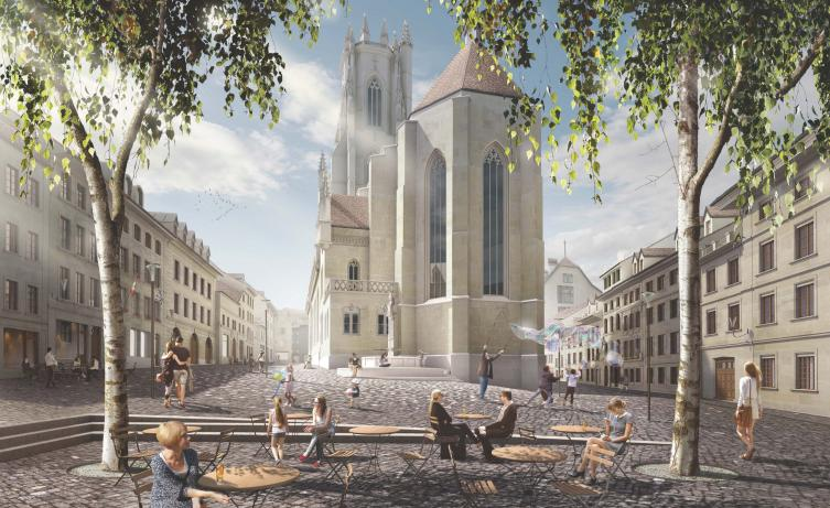 Place Sainte-Catherine (illustration) - Architecte: Studio Montagnini Fusaro